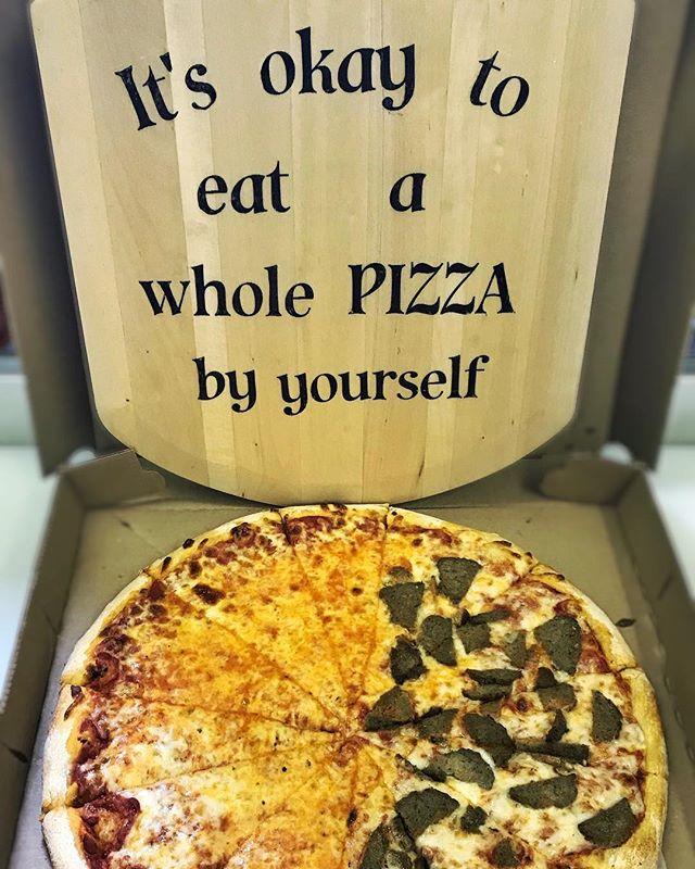 A perfect life motto #thejunctionpizza #mtpleasantpa #lifemotto #bestpizzaintown #eeeeeats #itsokay