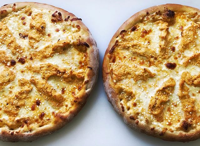 One buffalo chicken pizza is never enough! #thejunctionpizza #bestpizzaintown #mtpleasantpa #buffalochickenpizza #pizzaporn #foodporn #pizzagoals #🍕 #eeeeeats #gourmet #buffalo