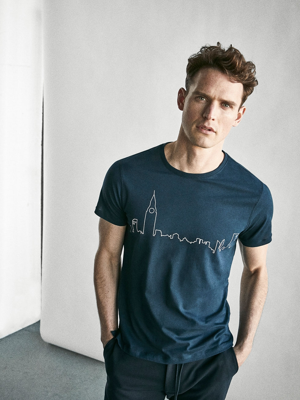 Massimo Dutti London Skyline Soft Tee £19.95