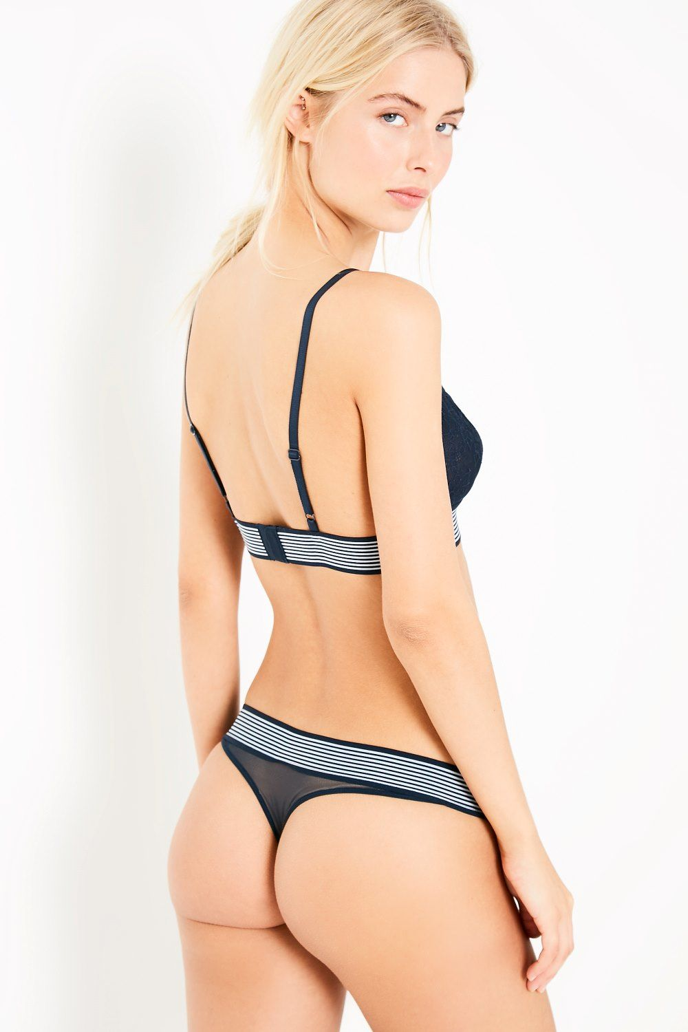 lace strip thong - £12.95 Jack Wills