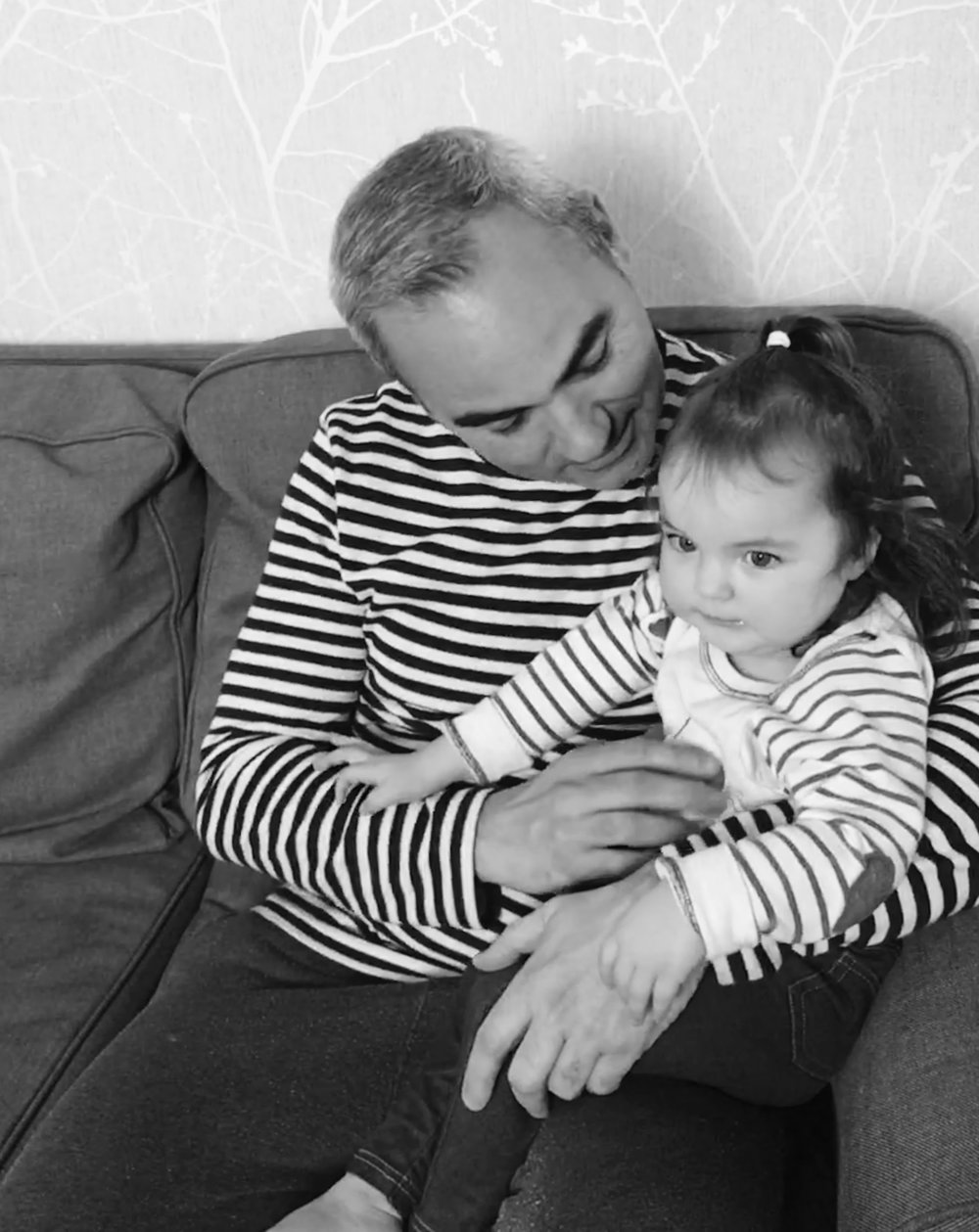 Sometimes my beautiful baby Elia wants a cuddle.  Samphire Stripe Waffle Ls Tee: White Stuff