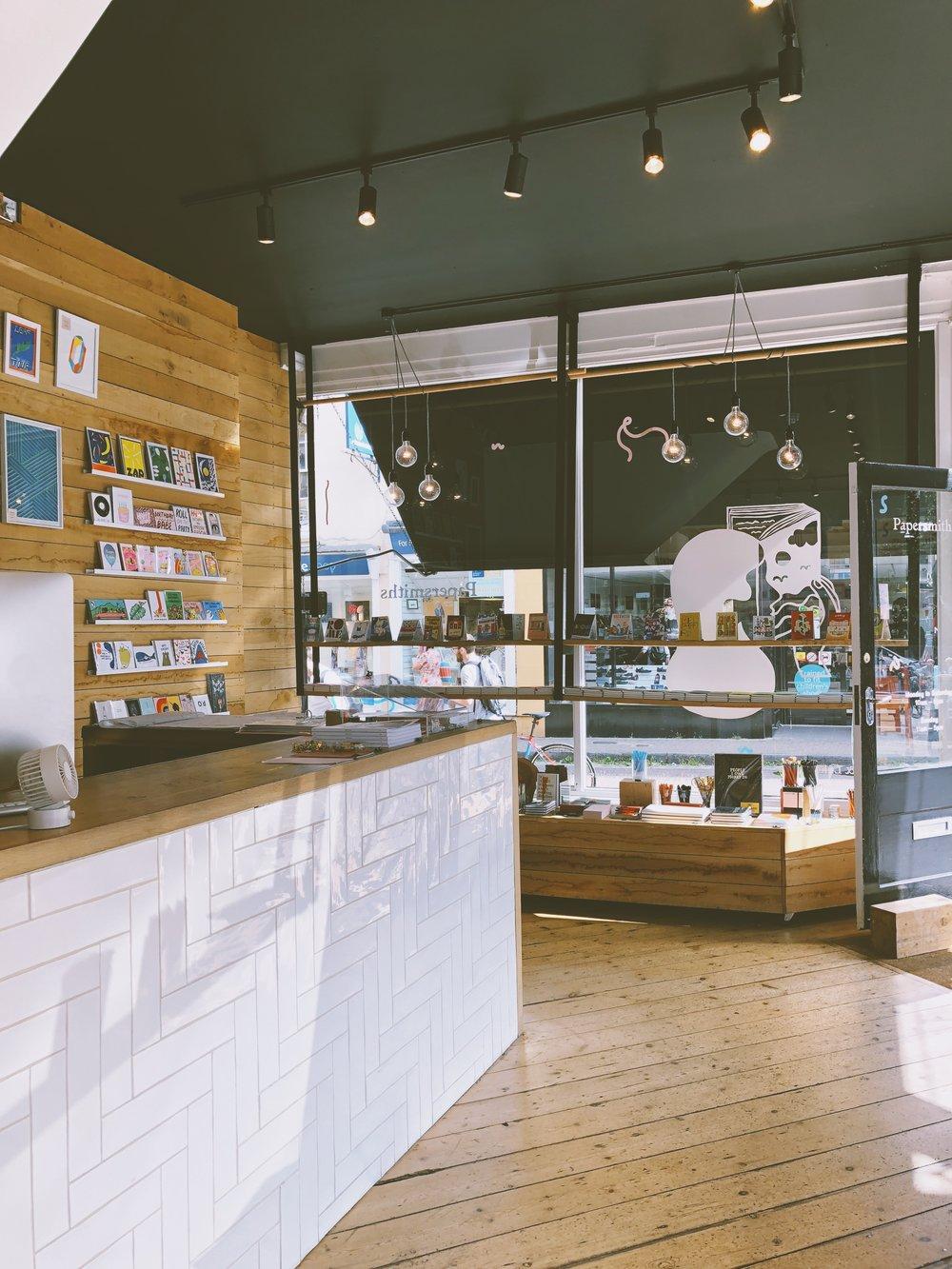 Inside Papersmiths 6a Boyce's Avenue BS8 4AA
