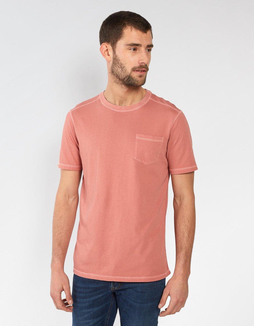 Dusty Pink Hemp Cotton T-Shirt -