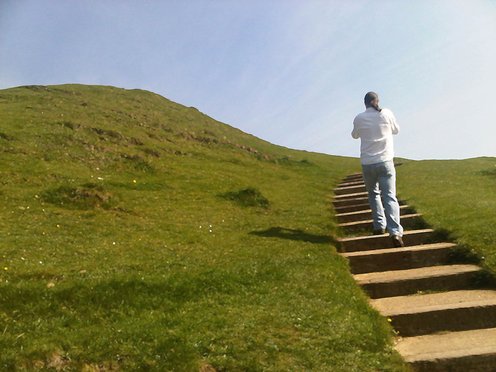 Ascending Glastonbury Tor