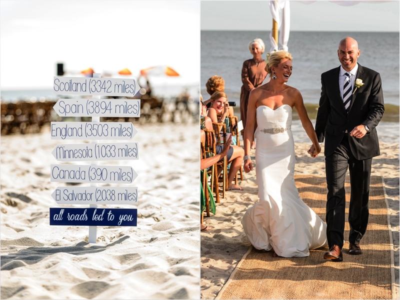 a - Ocean Club Hotel Wedding - signs all roads lead + recessional.jpg