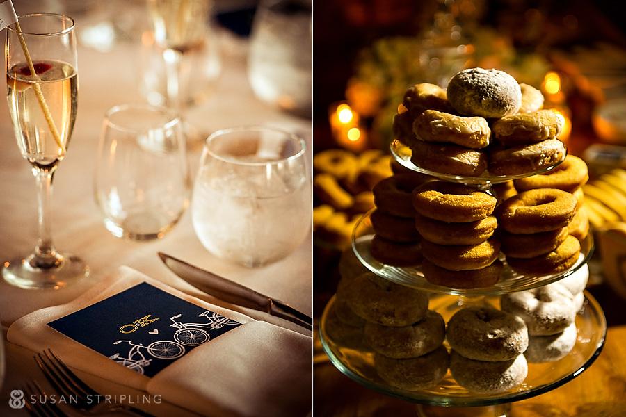 a - Ocean Club Hotel wedding - place setting + donuts collage.jpg