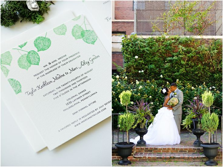 a - Free Library of Philadelphia Wedding - invite + altar collage.jpg