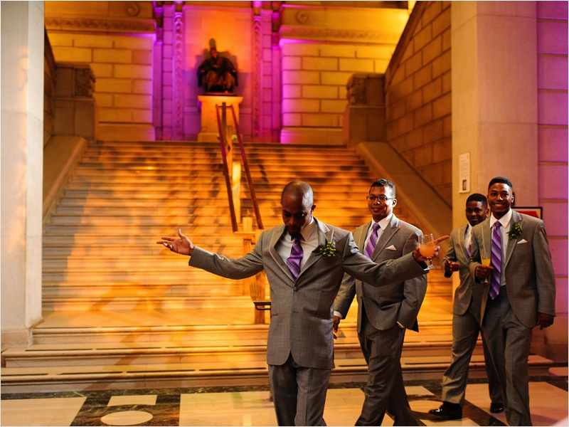 a - Free Library of Philadelphia Wedding - reception groomsmen entrance.jpg