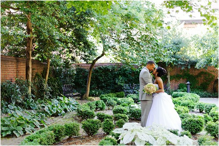 free Library of Philadelphia Wedding - first look garden bride groom.jpg
