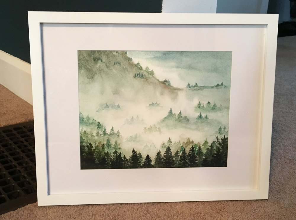 Misty Mountain Top   | Watercolor 2018