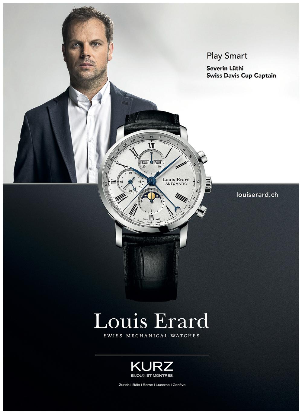 Séverin Lüthi pour les montres Louis Erard