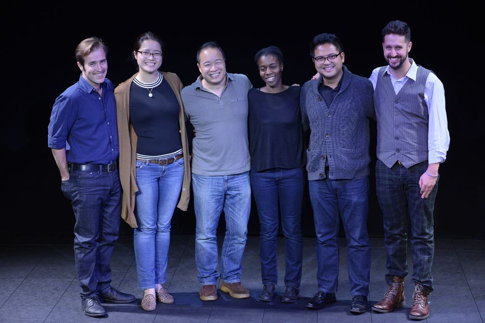 Nic with fellow shadow directors and directors at ABC's Diversity in Casting Showcase at New World Stages.