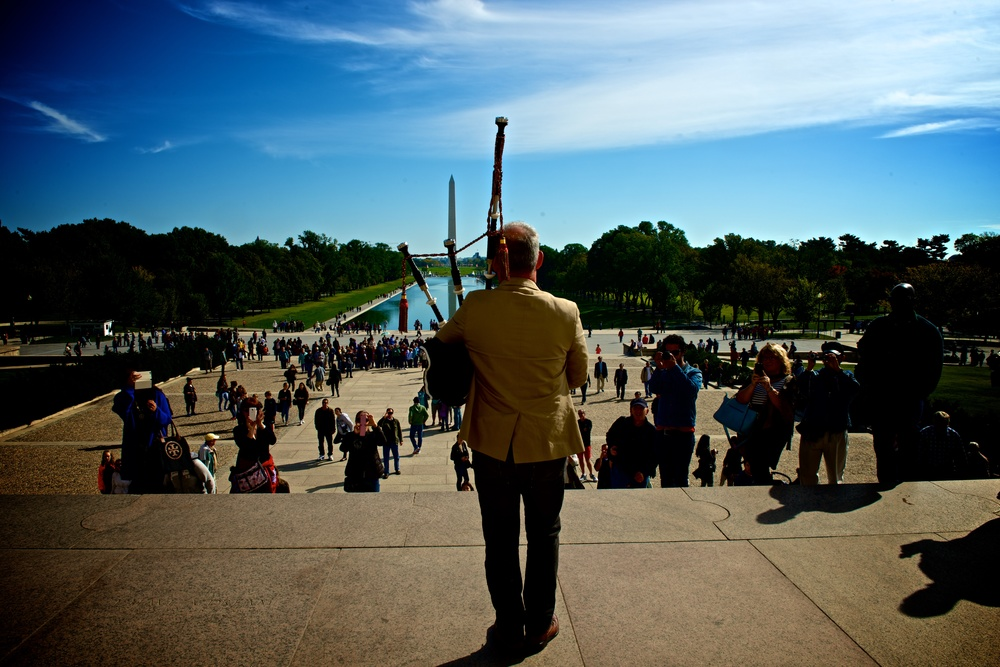 Bagpiper @ Lincoln Memorial - Brian G. Smith