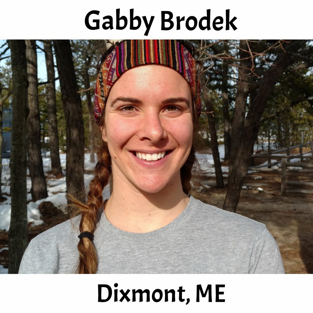 Gabby Brodek  (Dixmont, ME) B.S. (2017) in Environmental Science from Drake University. Growing up in rural Maine, Gabby instantly fell in love with the outdoors. She finds plenty of ways to get outside doing yoga, hiking, reading in the sun, and looking at aquatic insects. In the summers, Gabby spends her time in Northern Maine as a raft guide leading trips down Class IV and V whitewater. A year ago she was in Trinidad exploring the rainforest, eating mangoes and bananas off trees and participating in guppy research. Gabby worked as an educator at The Ecology School this past spring and is excited to be returning to share her passion for ecology and water with you (she also loves jokes, so share those too)!