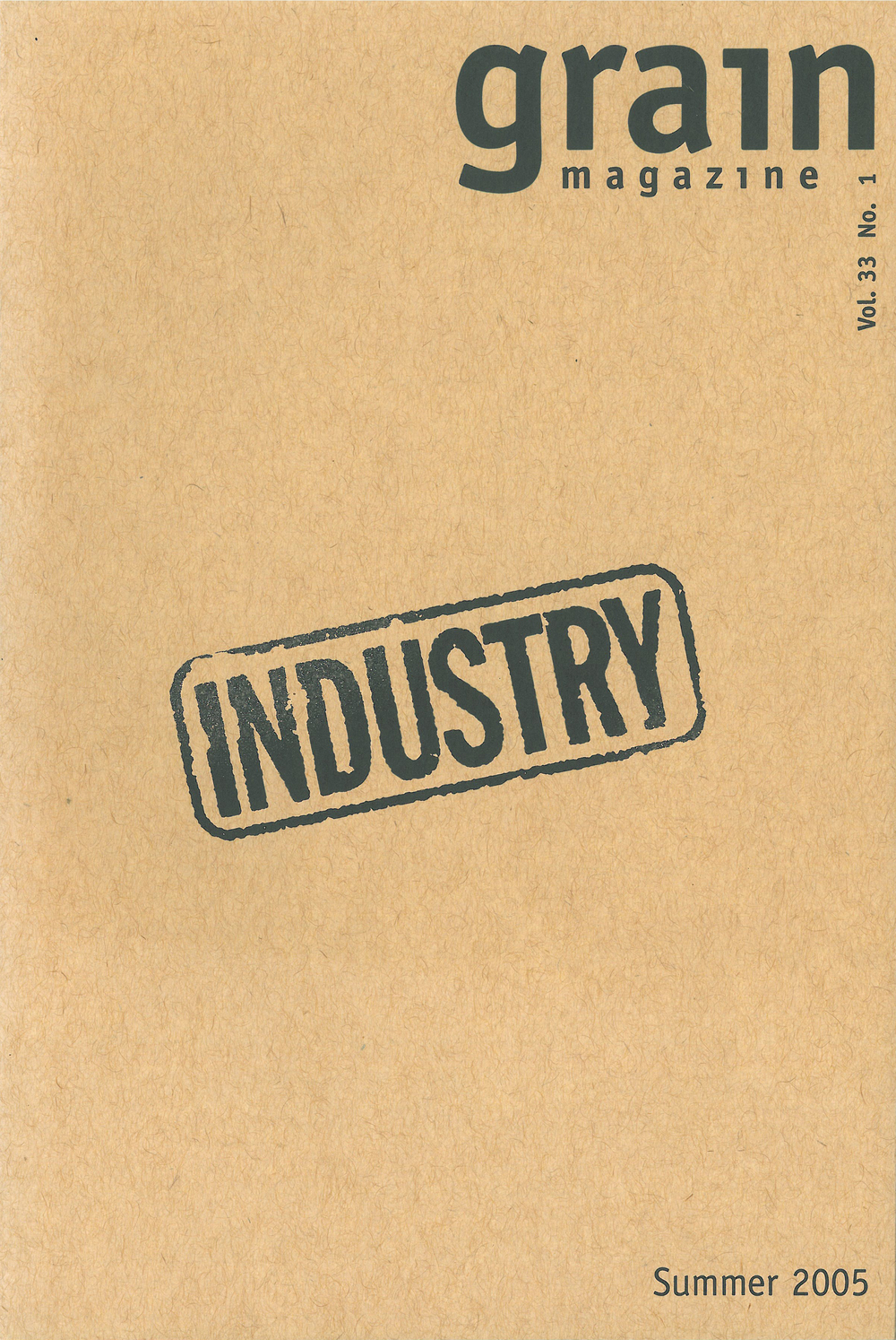 33.1 Summer 2005, Industry (sleeve)