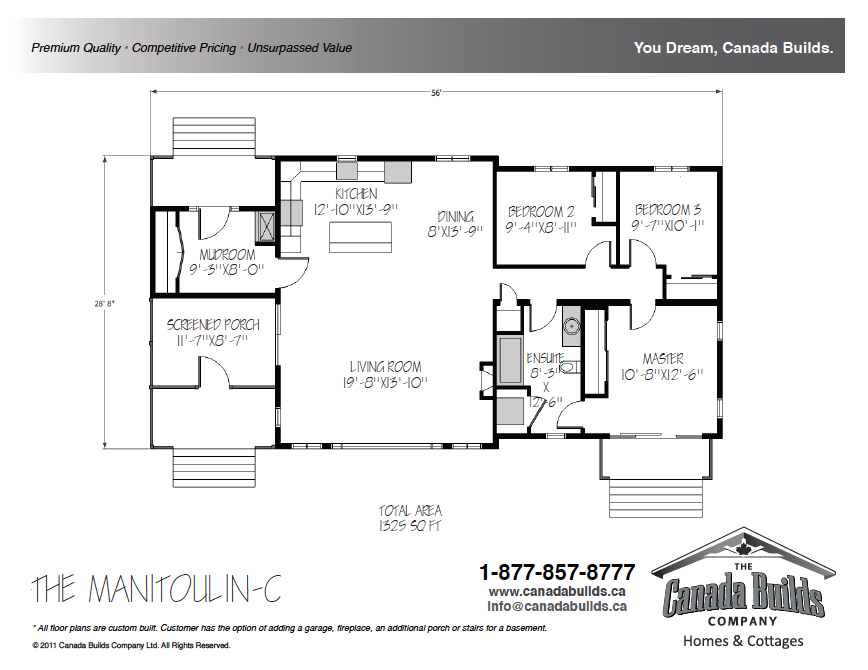 Canada bungalow floor plans thefloors co for Bungalow floor plans canada