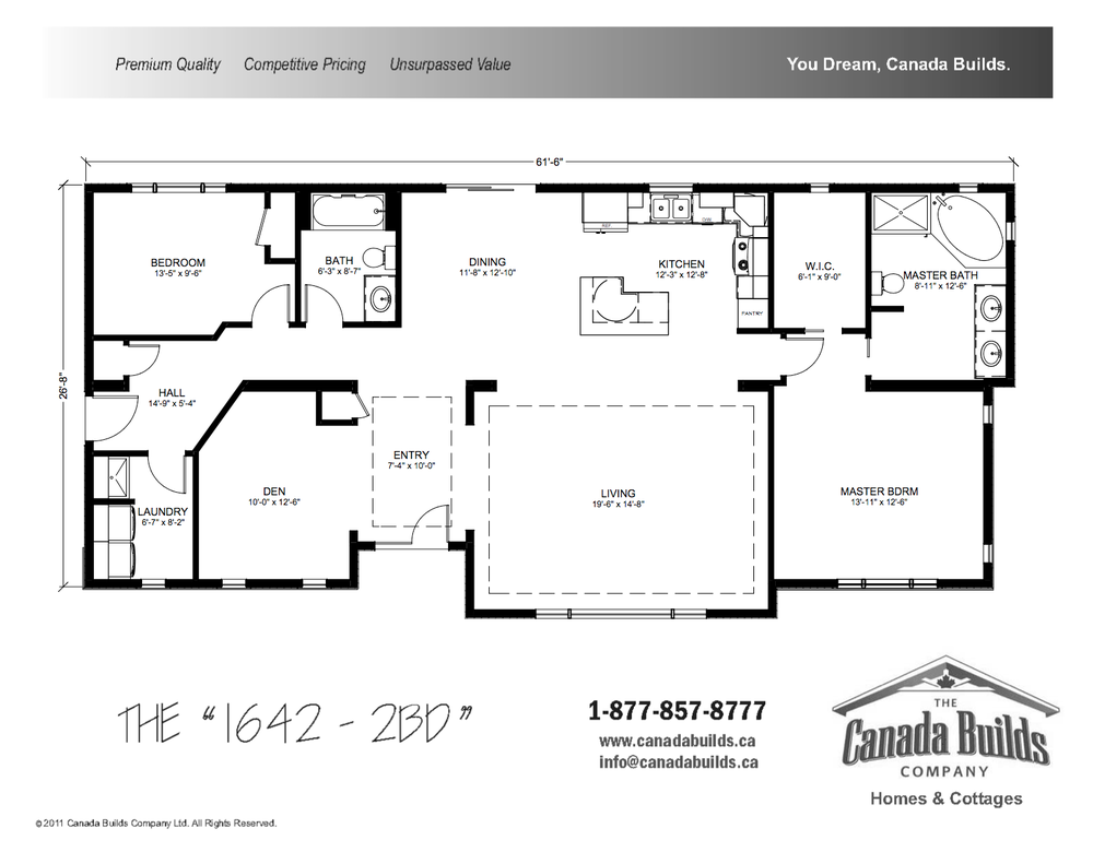 Bungalow canada builds custom modular homes ontario for Canadian bungalow house plans