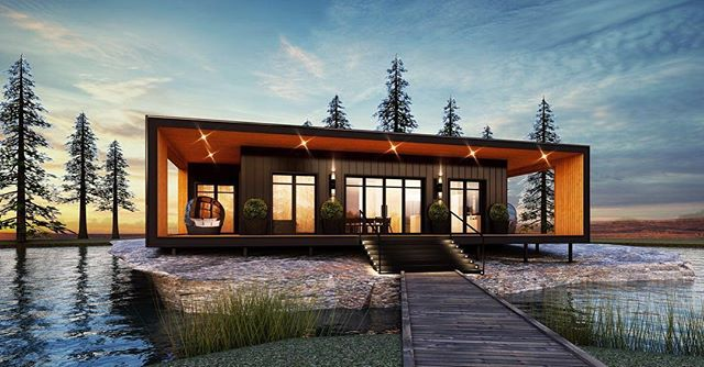 Meet, the Honey Harbour V. ⠀ ⠀ The second installment of our Honey Harbour Series presents the ultimate getaway featuring  amazing views and indoor/outdoor living starting at 1, 402 S.F.  Link in bio to learn more.⬆️⠀