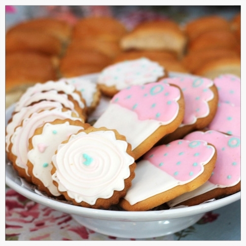 Cookies con glasé