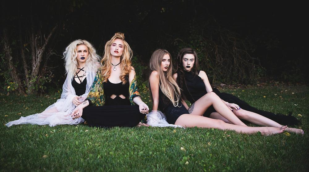 pentagram dress | superstitions dress  |  pensieve choker  |  rose garden kimono  |  skeletons crop  |  betty undie  |  seven devils dress