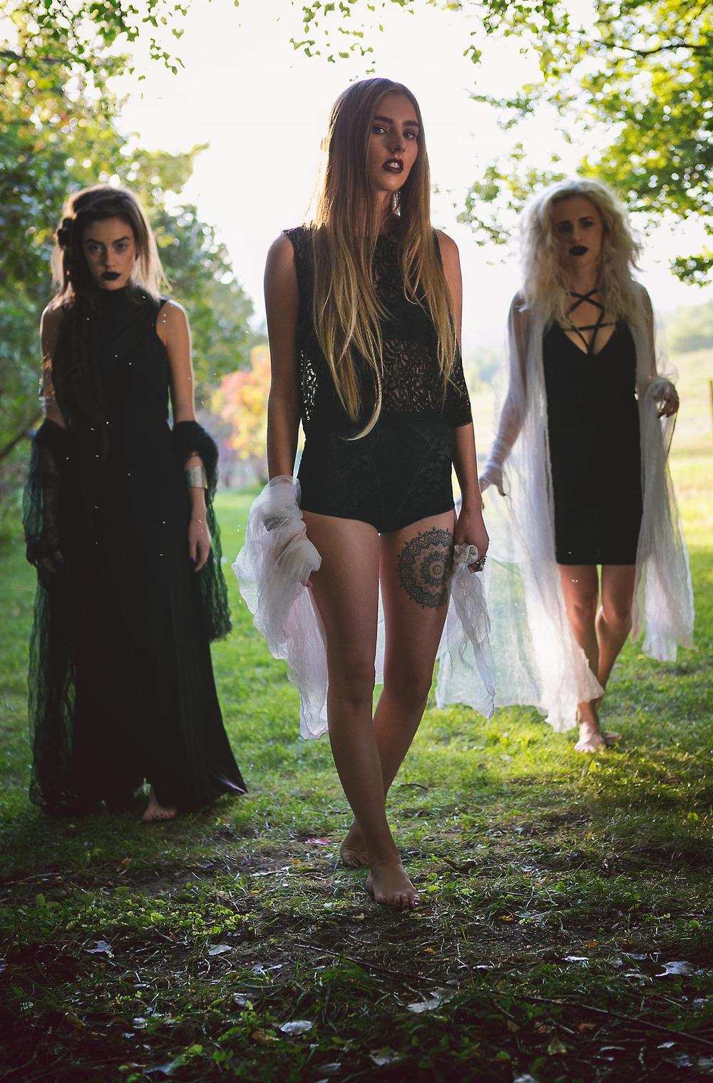seven devils dress | lux cuff | skeletons crop  |  betty undie  |  pentagram dress