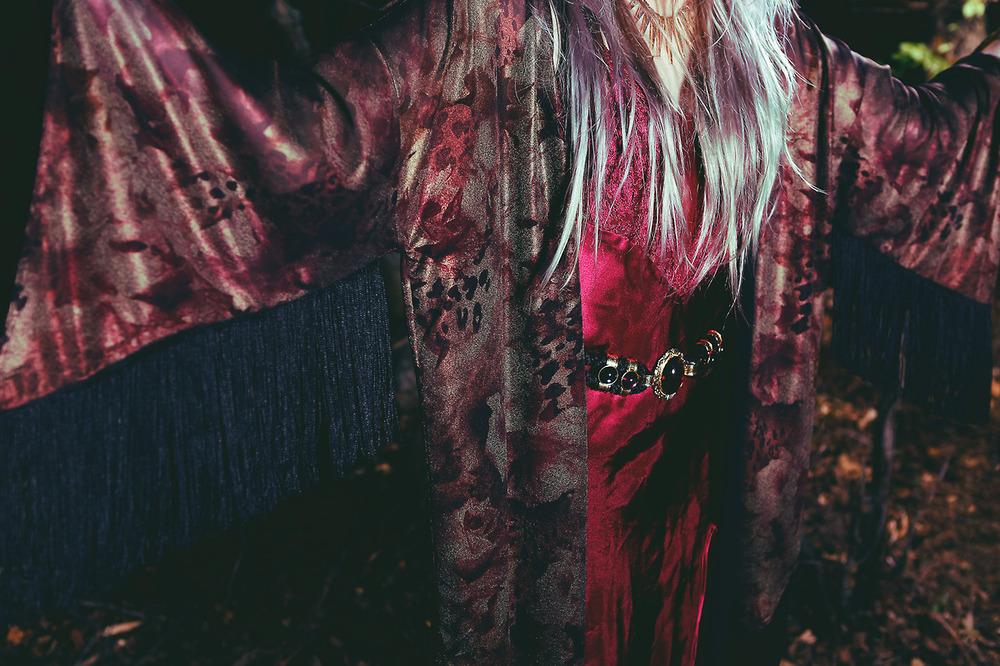 wine 'n' shine dress | spellbound belt | voodoo child kimono