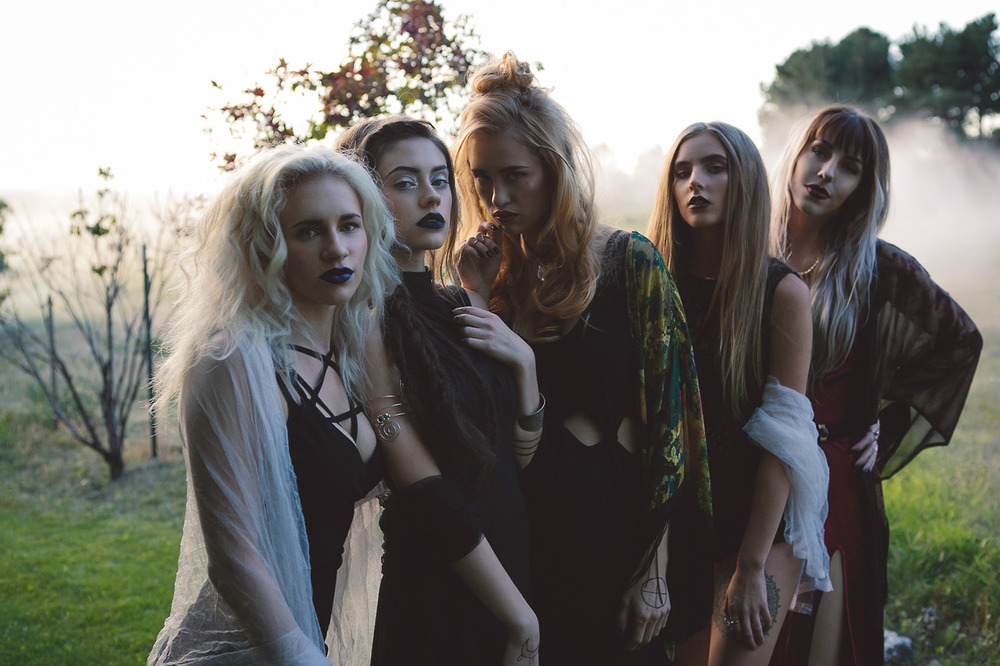 pentagram dress |  seven devils dress | superstitions dress | rose garden kimono |  pensieve choker  | skeletons crop | betty undie |  wine 'n' shine dress  |  spellbound belt  | voodoo child kimono