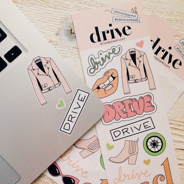 Our #DriveApparel decals are going out with every order through the summer so you can stick 'em on everything 💕