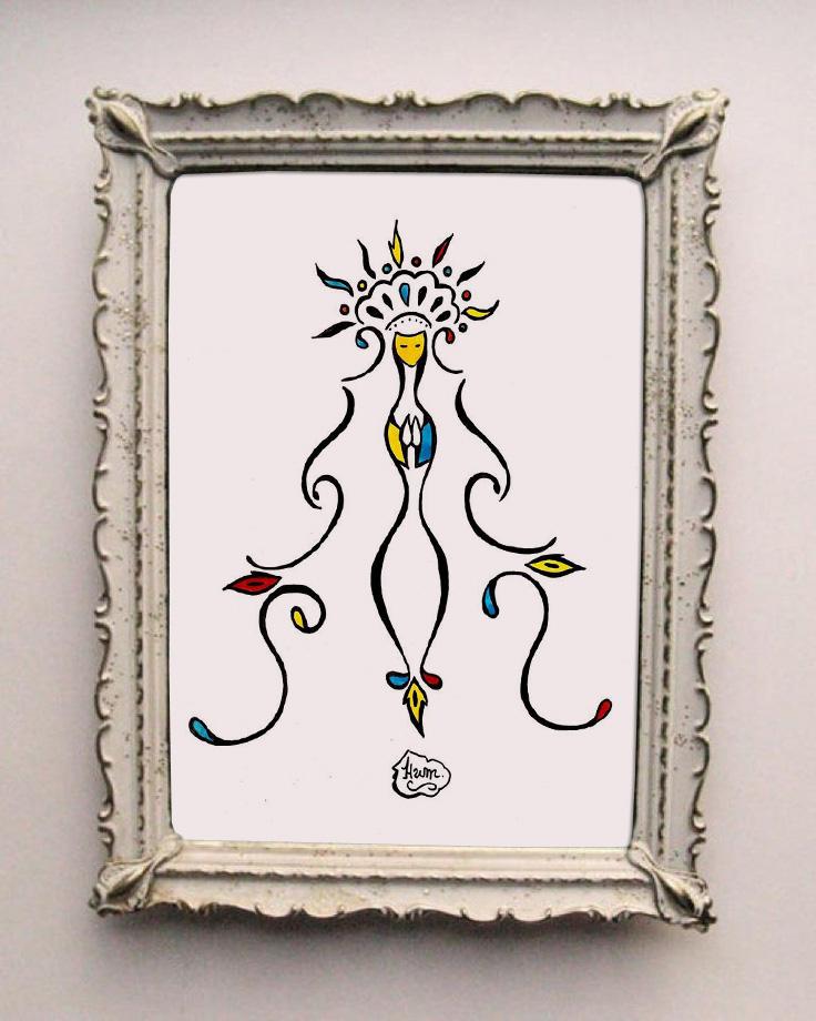 Colorida. Mascote da Santa Cultura. Feita pelo artista Humberto Soares.