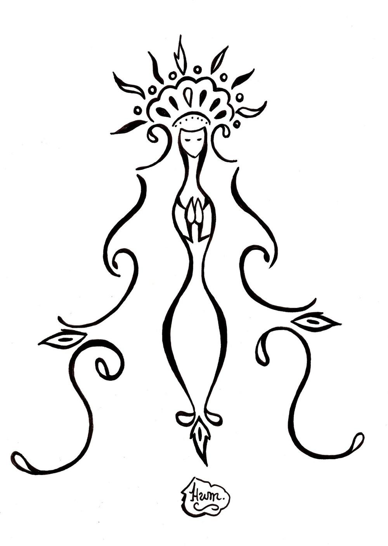 Preto e branco. Mascote da Santa Cultura. Feita pelo artista Humberto Soares.