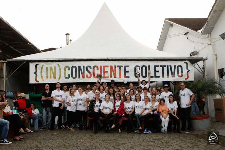 Participantes da segunda edição do (IN)CONSCIENTE Coletivo - na Cidadela Cultural Antarctica.