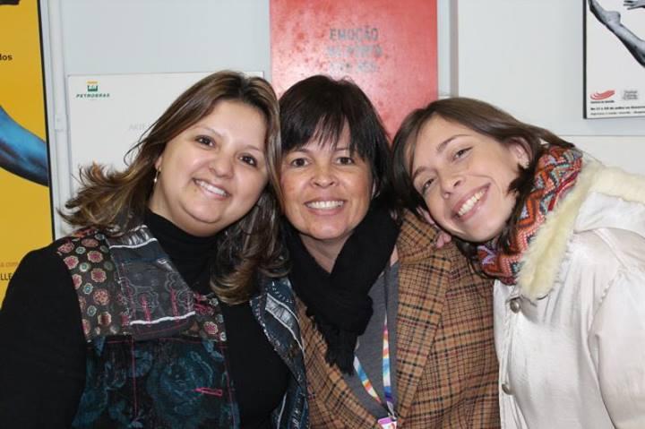 No Festival de Dança, ao lado da assessora artística Vera Lúcia Arins Nascimento.
