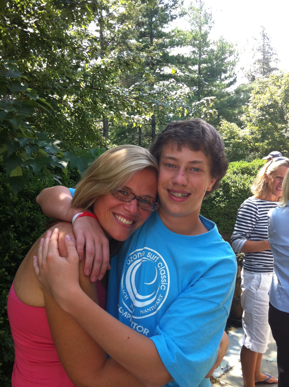 Old photo of me and Trey, he's a high school grad now headed to the University of Arizona! So proud of him.