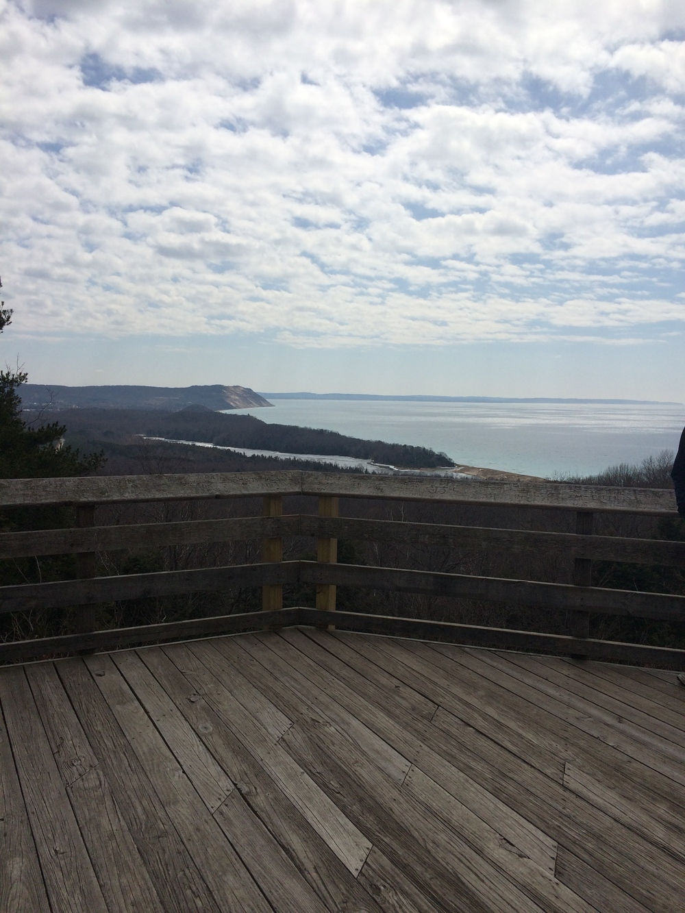 A shot of one of the Sleeping Bear Dune Drive Overlooks that Mike and I ran over Easter (very hilly!)