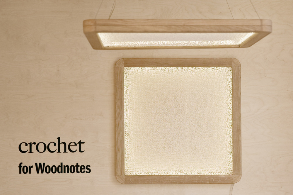 Crochet luminaire for Woodnotes
