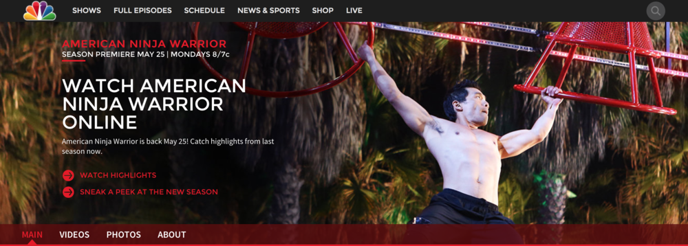 Ninja NBC homepage.png
