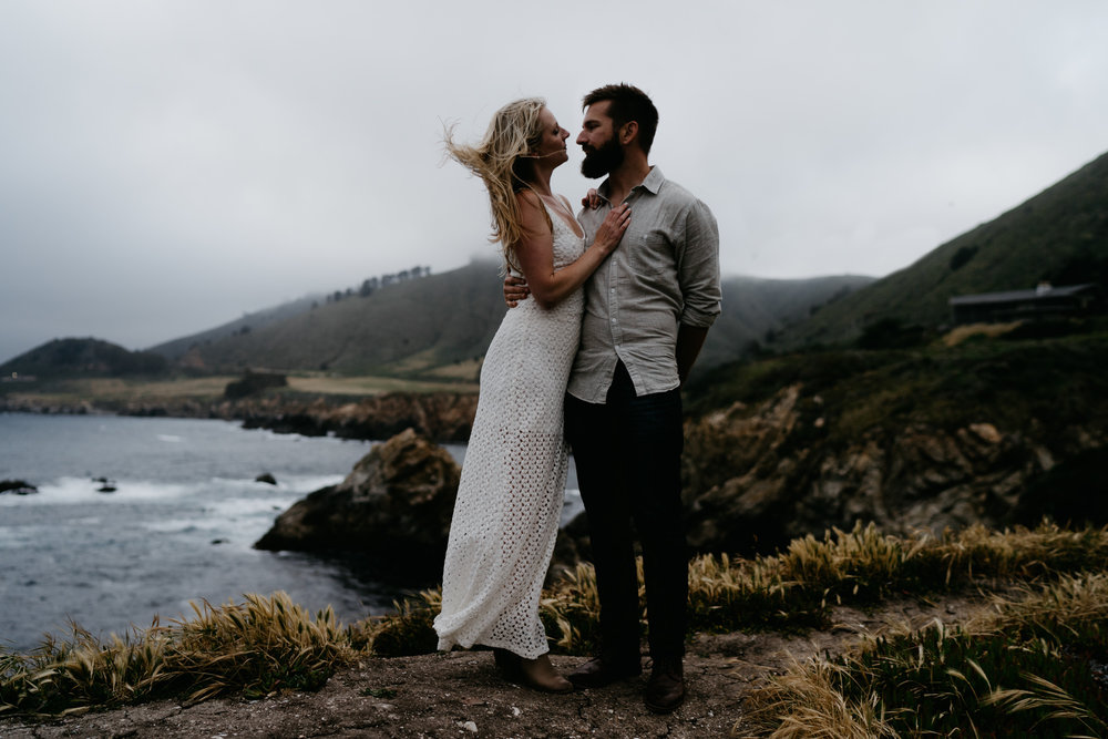 big sur engagement shoot