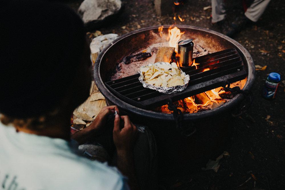 Camp fire photo Big Sur