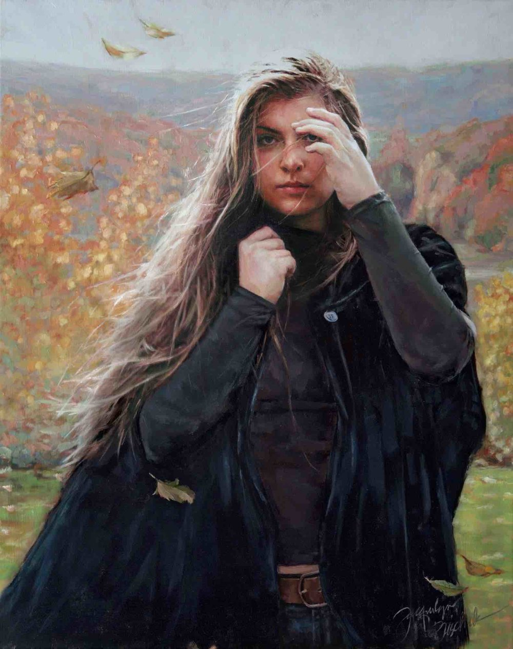 """Velvet Cape""  Oil on linen canvas 35x38"