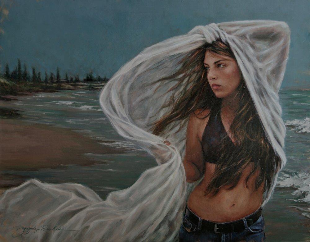 """""""Zephyrus""""  Oil on linen canvas 24x36"""