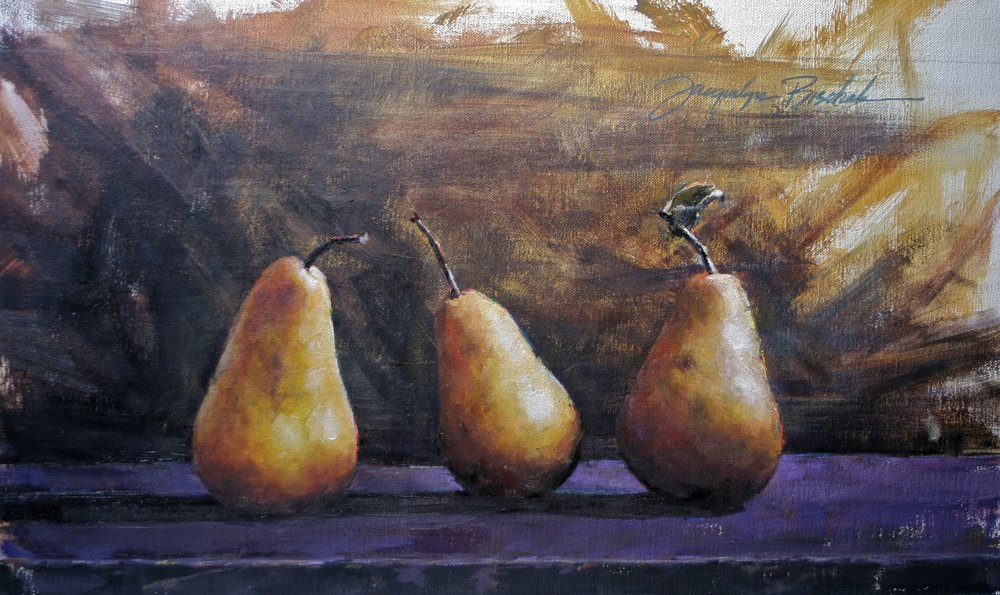 """Two Of Three In A Pear""  12x10"