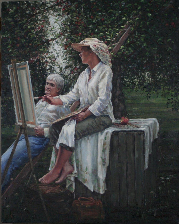 """Orchard de Glehn""  Oil on Canvas  36x24"