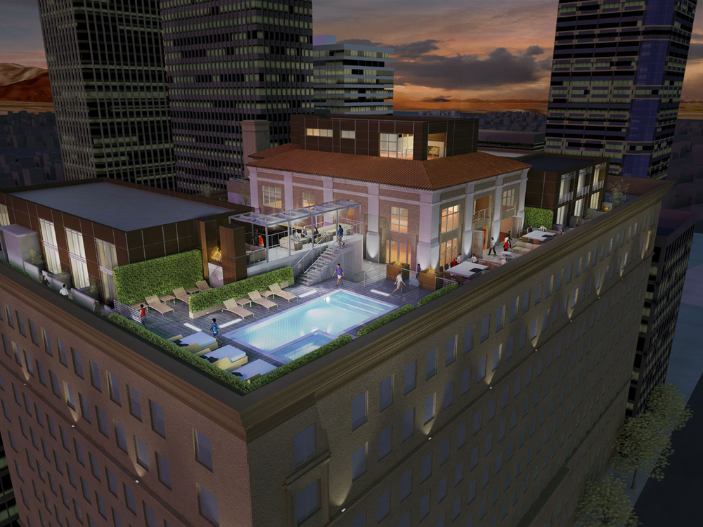 Roof top renderings