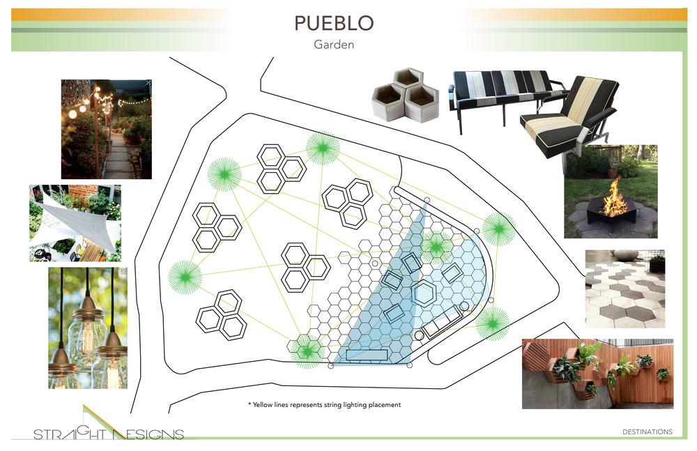 Straight Designs Destinations Pueblo Garden