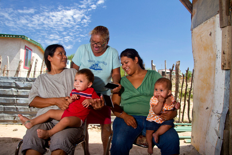 Mexican Family Laughing