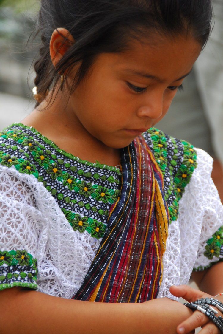 Guatemalan in Mayan Dress