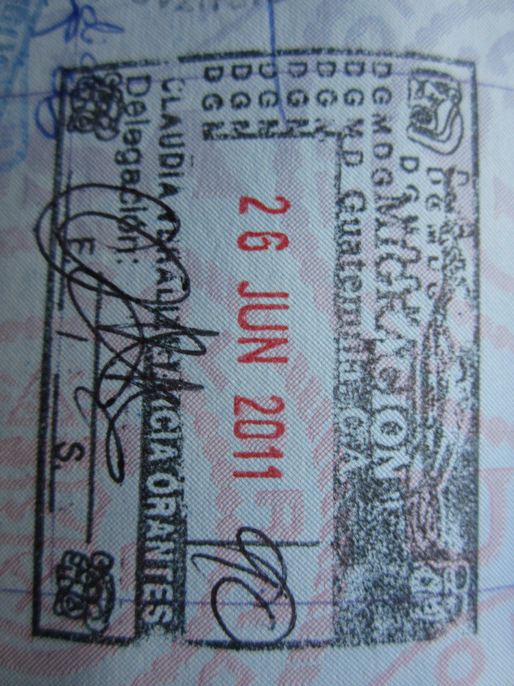 Guatemalan Passport Stamp