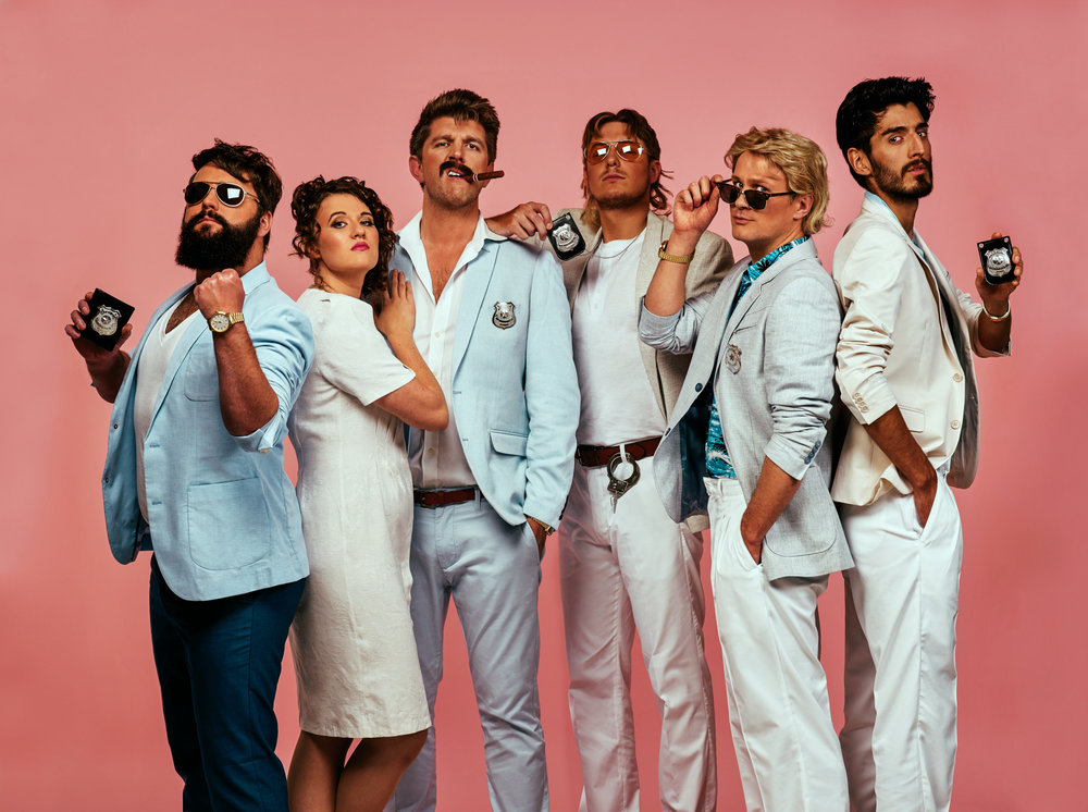 Mellor and Smith are a Brand design agency. They comissioned me to produce some team portaits with a Miami Vice theme.