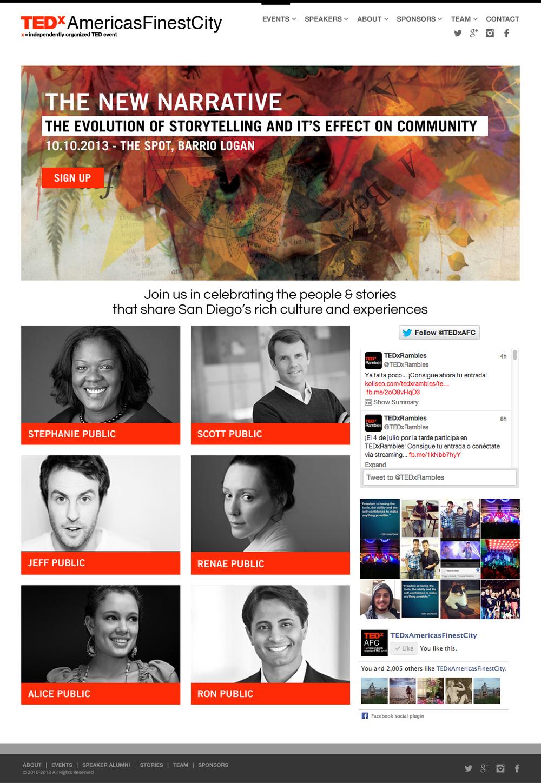 TEDX WEB SITE HEADER