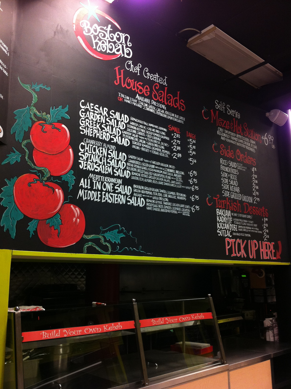 Boston Kebab_Menu Wall